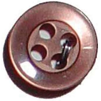 Slimline-Buttons Serie 1 Brown 4 Loch 3 8