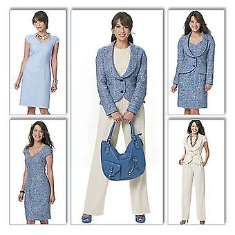 Misses' Vest, Jacket, Dress And Pants  Aa 6  8  10  12 Pattern B5570  Aa0
