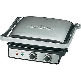 Electric Grill press Profi Cook PC-KG 1029 with manual temperature settings Stainless steel, Black