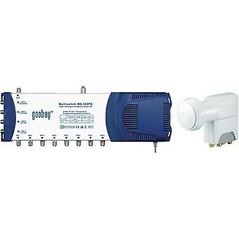 SAT multiswitch Goobay MS 508 PQ Inputs (multiswitches): 5 (4 SAT/1 terrestrial) No. of participants: 8 incl. LNB