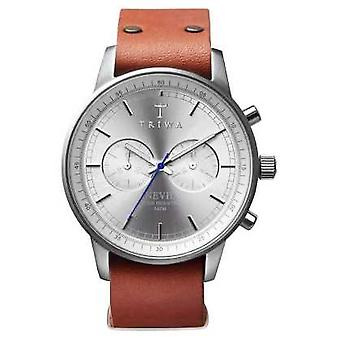 Triwa Unisex Brown Leather Strap Stirling Nevil NEST101-NA010212 Watch