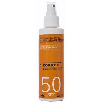 Korres Solar Spray Spf50 150 Ml Yogurt (Woman , Cosmetics , Sun Care , Protectors)