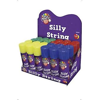Smiffys Silly String Assorted Colours Non-Flammable 83Ml Per Can 24 (Kostuums)