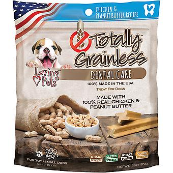 Totally Grainless Dental Bones For Small Dogs 6oz-Chicken & Peanut Butter LP5305