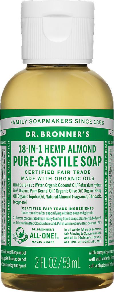 Dr Bronner 18-in-1 Hemp Almond Pure-Kastilien tvål