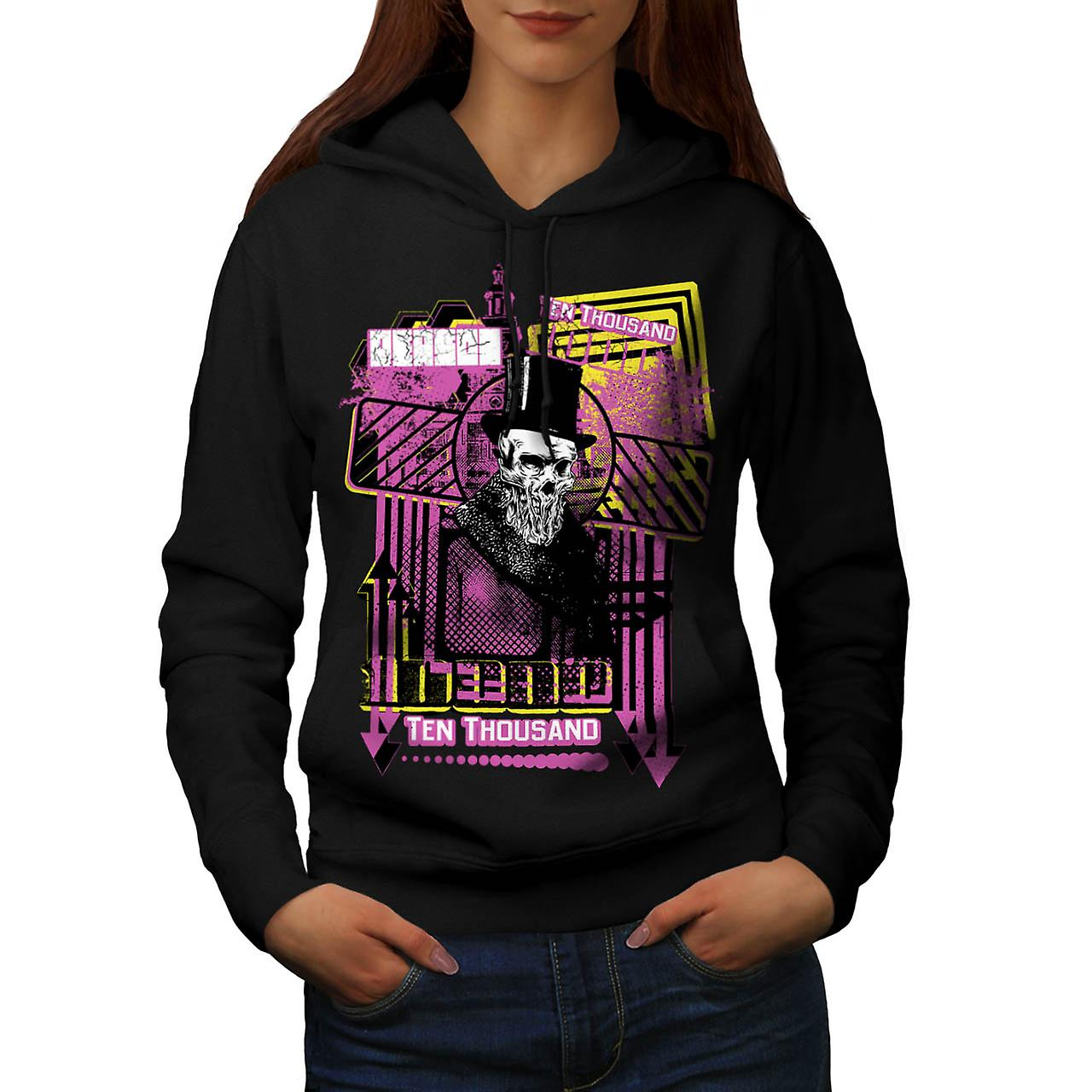 Reason For Death Gent Haunted Women Black Hoodie | Wellcoda