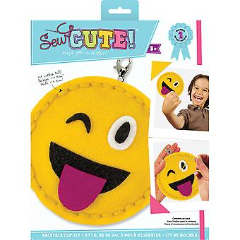 Sew Cute! Mini Felt Kit-Emoji One Eye Open SEWMINI-73611