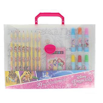 Disney Princess 30 Pieces Colouring Set Includes Pencils, Crayons & Pens Age 3+