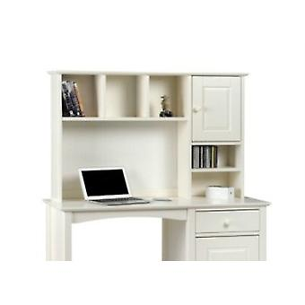 Treck White Stone Hutch Top For Desk - Fully Assembled Option