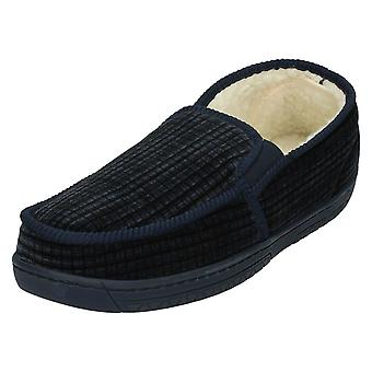 Mens Spot On Elasticated Gusset Slippers W15185