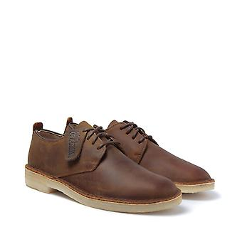 Clarks Originals Beeswax Desert London Leather Shoes