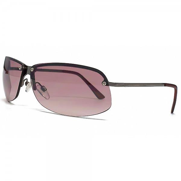 French Connection Angular Rimless Sunglasses In Pewter