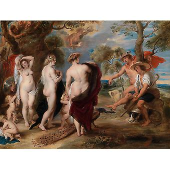 Peter Paul Rubens - The Judgment of Paris Poster Print Giclee