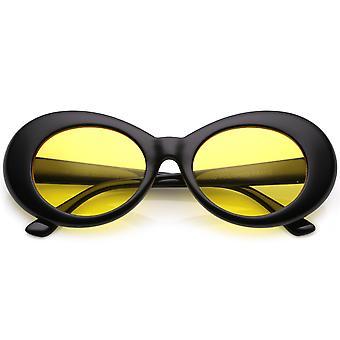 Retro Oval solbriller med koniske våben farve tonet runde linse 51mm
