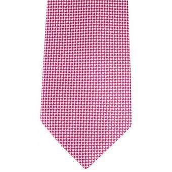 David Van Hagen Checked Tie - Pink/White