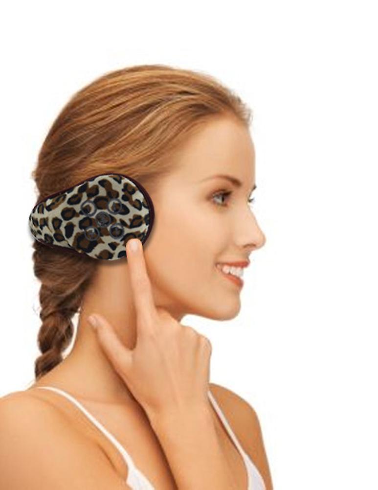 Trådløs Bluetooth-hodetelefoner skinn øreklokker - Leopard