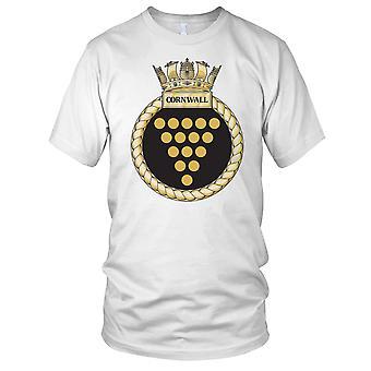 Royal Navy HMS Cornwall Mens T Shirt