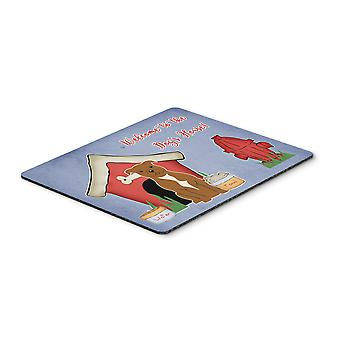 Dog House Collection Staffordshire Bull Terrier Brown Mouse Pad, Hot Pad or Triv