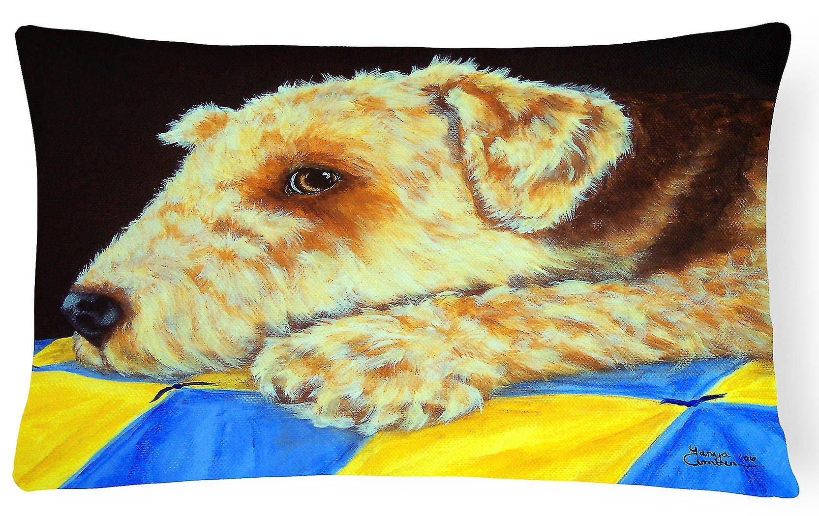 Quilt Oreiller Momma Terrier Fabric Décoratif Airedale De y0vmnwON8