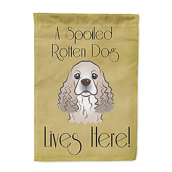 Cocker Spaniel Spoiled Dog Lives Here Flag Garden Size