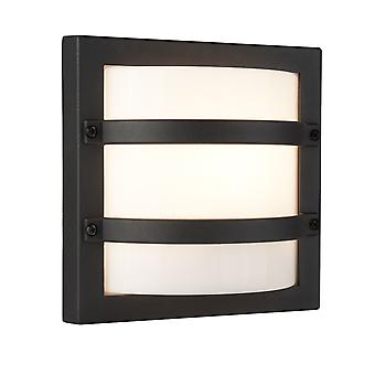 Searchlight 6813GY LED Outdoor Square Wall Light In Dark Grey With Polycarbonate