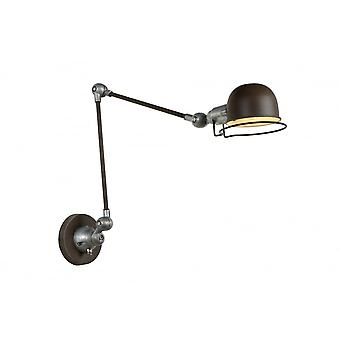 Lucide HONORE Wall Light E14 H11.5 W Max 70cm Rusty