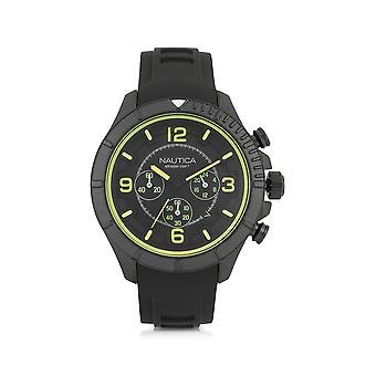 Nautica men's NAI19526G black steel watch
