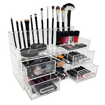 OnDisplay Acqua Luxury Handmade Acrylic Cosmetic/Makeup Organizer