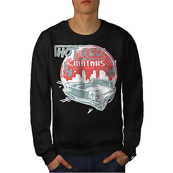 Hot Car Vintage Men BlackSweatshirt | Wellcoda