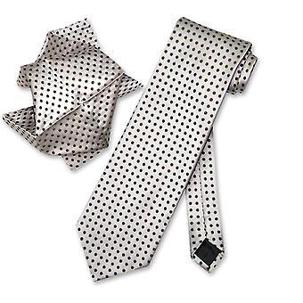 Antonio Ricci NeckTie Handkerchief w/ Polka Dots Neck Tie Set