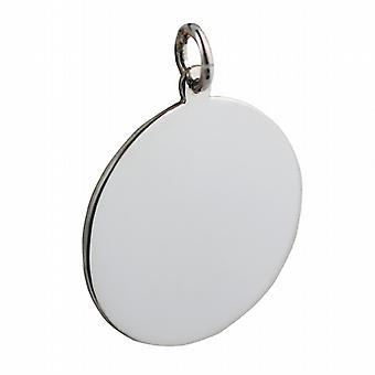 Silber 26mm Runde Klar Disc