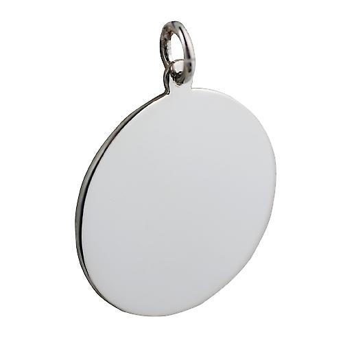 Silver 26mm round plain Disc