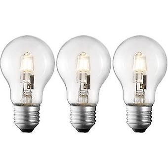 Eco halogen 95 mm Sygonix 230 V E27 42 W Warm white EEC: C Pear shape dimmable 3 pc(s)
