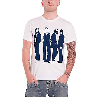 The Beatles T Shirt Standing Silhouettes Iconic Logo Official Mens New White