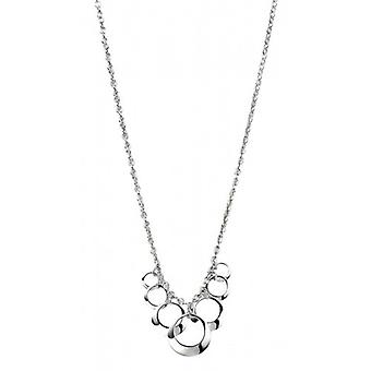 Elements Silver Open Disc Cluster Necklace - Silver