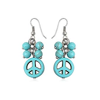 Pendantes Peace in Turquoise earrings