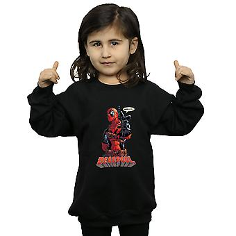 Marvel Girls Deadpool Hey You Sweatshirt