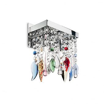 Ideal Lux Giada Shabby Chic couleur cristal cascade murale