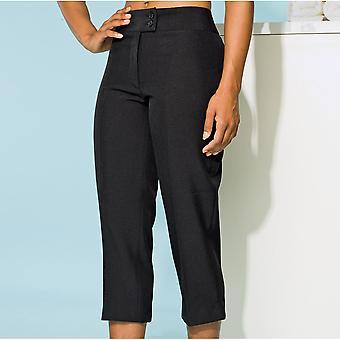 Premier Ladies Senna Beauty Spa Crop Workwear Smart Trousers Black