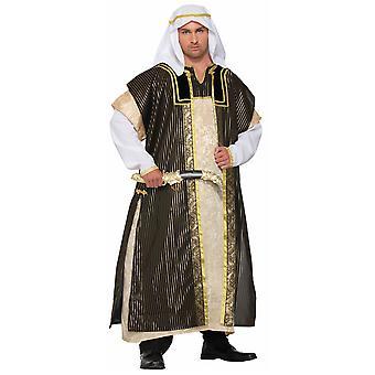 Pustyni książę Deluxe Sheik Arabian Genie Aladdin Emiraty męskie kostium STD
