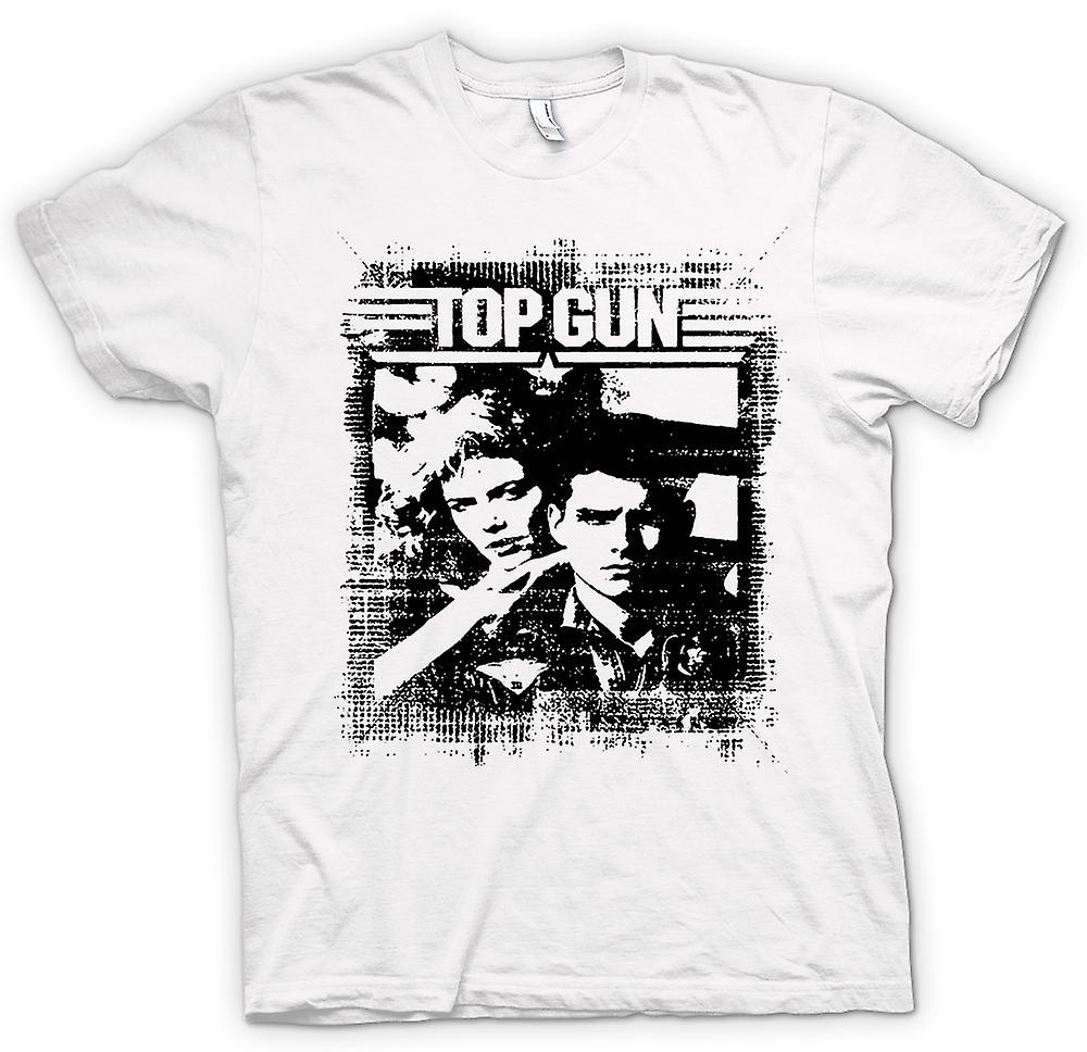 Mens t-skjorte-Top Gun Maverick - Pop Art - film