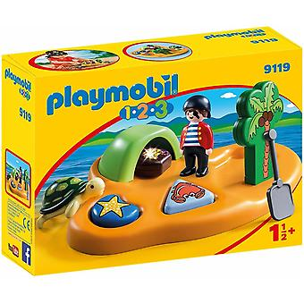 Playmobil 9119 1.2.3 Pirate Island with Shape Sorting