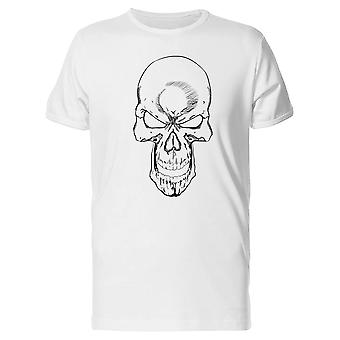 Laughing Skull B&W Tee Men's -Image by Shutterstock
