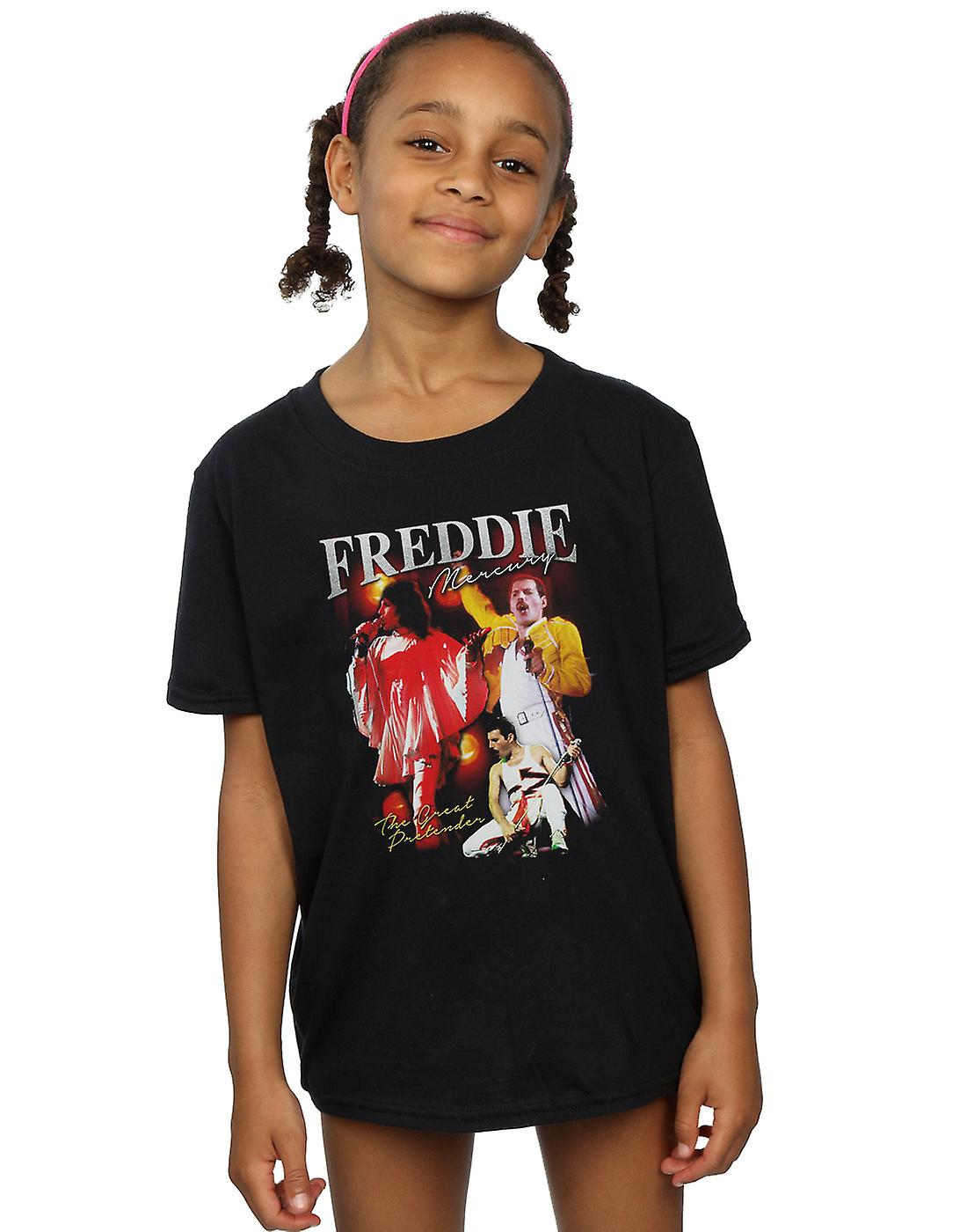 coupon code official site brand new Queen Girls Freddie Mercury Homage T-Shirt