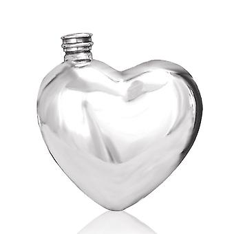 Heart Shaped Pewter Flask - 6oz