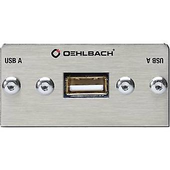 USB 2.0 Multimedia infälld + fanout kabel Oehlbach PRO i MMT-C USB.2 A / B
