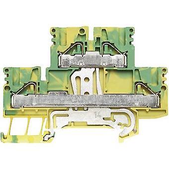 Double level terminal blocks PDK PDK 2.5/4 PE 1918710000 Green-yellow