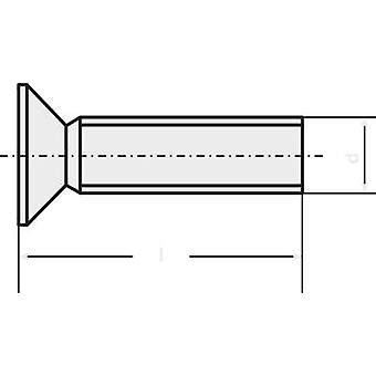 TOOLCRAFT 889759 Underskrudde skruer M3 6 mm Phillips DIN 965 stål sink belagt 1 eller flere PCer