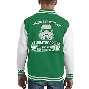 Original Stormtrooper Imagine Life Without Kid's Varsity Jacket