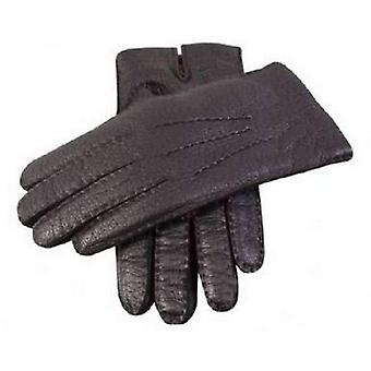 Dents Handsewn Cashmere Lined Peccary Gloves - Black